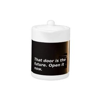 Phrasen: Diese Tür ist die Zukunft. Öffnen Sie sie