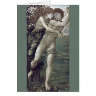 """""""Phyllis und Demophoon"""", durch Edward Burne-Jones Karte"""
