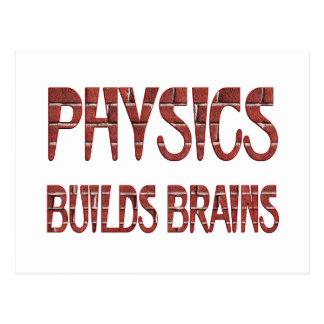 Physik errichtet Gehirne Postkarten