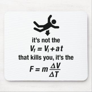 Physik - es ist die plötzliche Verlangsamung, die Mauspad