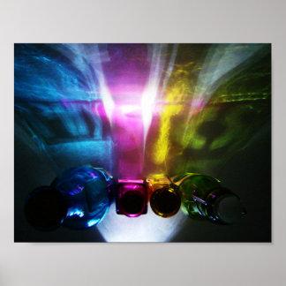 Physik-Farbe und Licht Poster