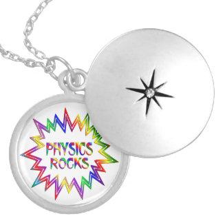 Physik-Felsen Versilberte Kette