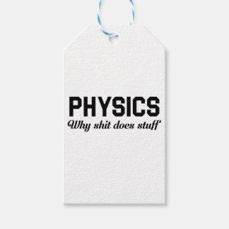 Physik füllt an geschenkanhänger