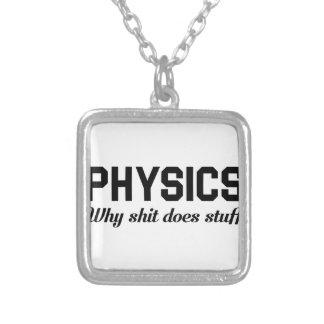Physik füllt an versilberte kette