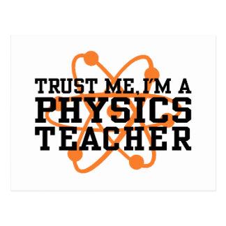 Physik-Lehrer Postkarte
