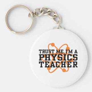 Physik-Lehrer Standard Runder Schlüsselanhänger
