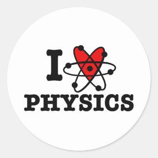 Physik Runder Aufkleber