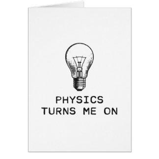 Physik schaltet mich ein karte
