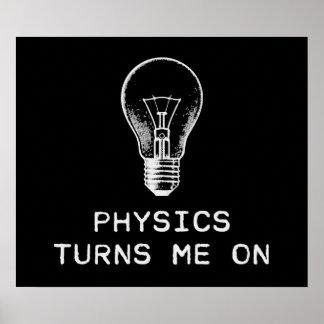 Physik schaltet mich ein poster