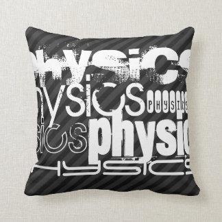 Physik; Schwarze u. dunkelgraue Streifen Zierkissen