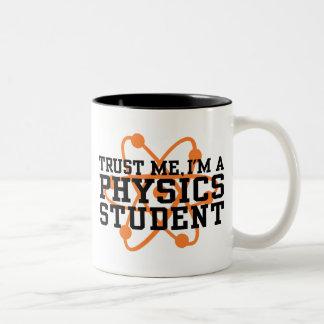 Physik-Student Zweifarbige Tasse
