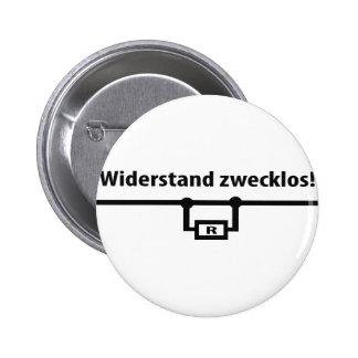 Physik Widerstand zwecklos Ikone Runder Button 5,7 Cm