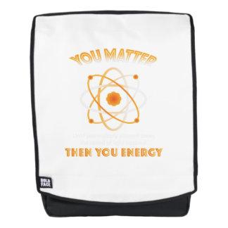 Physik-Wissenschaft Sie Energie lustig Rucksack