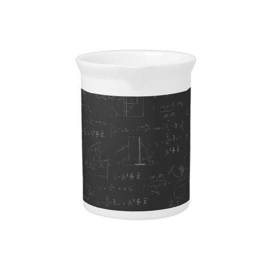 Physikdiagramme und -formeln getränke pitcher