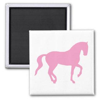 Piaffe Pferd (Rosa) Quadratischer Magnet