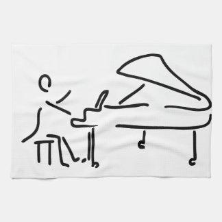 Pianist Musiker spielt Klavier Piano Fluegel Küchentuch