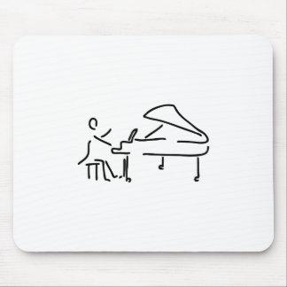 Pianist Musiker spielt Klavier Piano Fluegel Mauspads