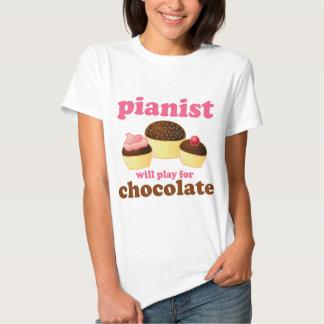 Pianist spielt für Schokolade Tshirts