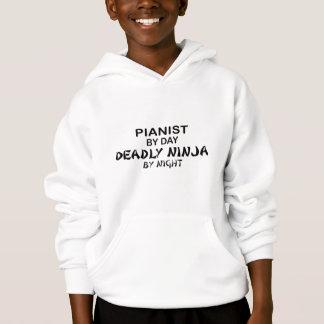 Pianist tödliches Ninja bis zum Nacht Hoodie