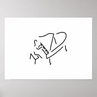pianistin klavierspieler fluegel poster