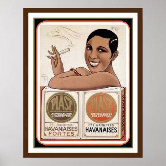 Piast Havanaises Vintages Anzeigen-Plakat 12 x 16 Poster