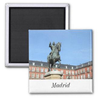 Piazza-Bürgermeister, Madrid-Magnet Quadratischer Magnet