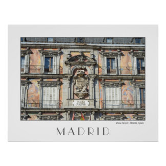 Piazza-Bürgermeister, Madrid-Plakat Poster