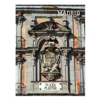 Piazza-Bürgermeister, Madrid-Postkarte Postkarte