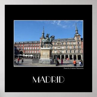 Piazza-Bürgermeister, quadratisches Plakat Madrids