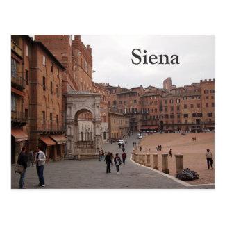 Piazza Del Campo, Siena-Textpostkarte Postkarte