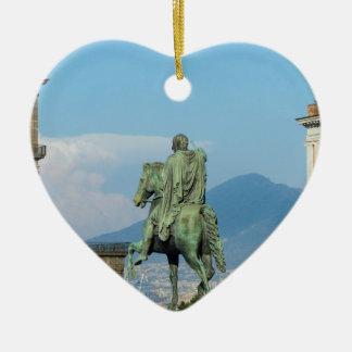 Piazza Del Plebiscito, Neapel Keramik Herz-Ornament