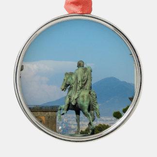 Piazza Del Plebiscito, Neapel Rundes Silberfarbenes Ornament