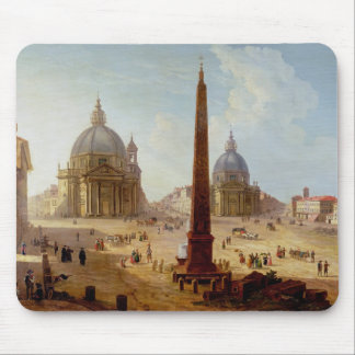Piazza Del Popolo, Rom (Öl auf Leinwand) Mousepad