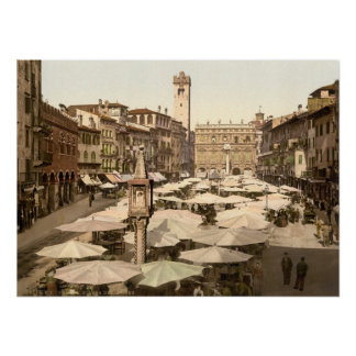 Piazzi delle Erbe Verona Italien Posterdrucke