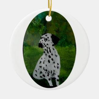 Pickeliger Hundekunst-Dalmatiner Keramik Ornament