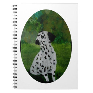 Pickeliger Hundekunst-Dalmatiner Spiral Notizblock