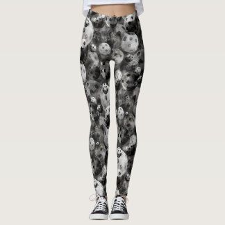Pickleball Schatten des grauen Musters Leggings