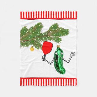 pickleball Weihnachten Fleecedecke