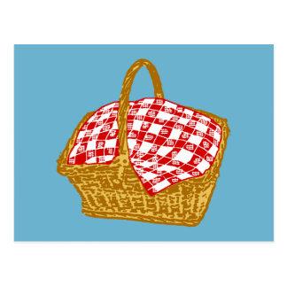 Picknick-Korb Postkarte