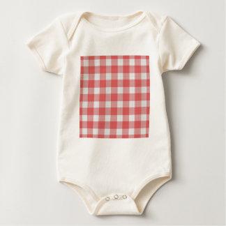 Picknick-Stoff-Muster Baby Strampler