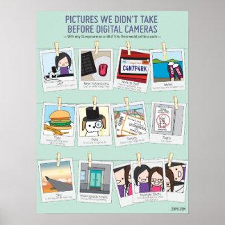 Pics, den wir nicht vor Digitalkamera-Plakat Poster