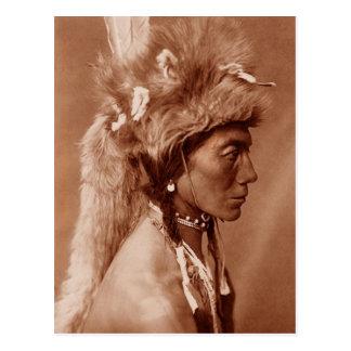 Piegan Blackfoot Ureinwohner-Mann Postkarte