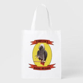 Piepmatz-Brigaden-afrikanisches Grau-Papagei - Wiederverwendbare Einkaufstasche