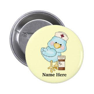Piepmatz-Krankenschwester-Knopf Runder Button 5,7 Cm