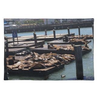 Pier 39 San Francisco Kalifornien Stofftischset