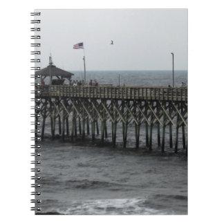 Pier-Fischen - Eichen-Insel, NC Notizblock
