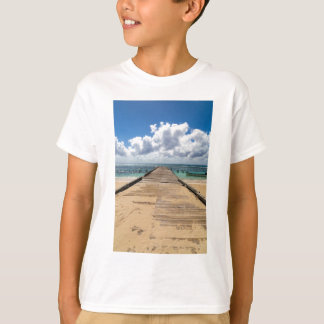 Pier in die Ozean Saona Domenican Republik T-Shirt