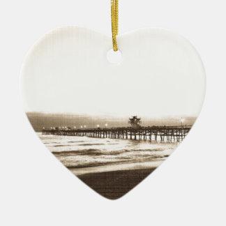 Pier Sans Clemete Vintages Foto Keramik Herz-Ornament