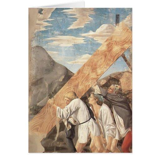 Piero della Francesca-Beerdigung des heiligen Grußkarte