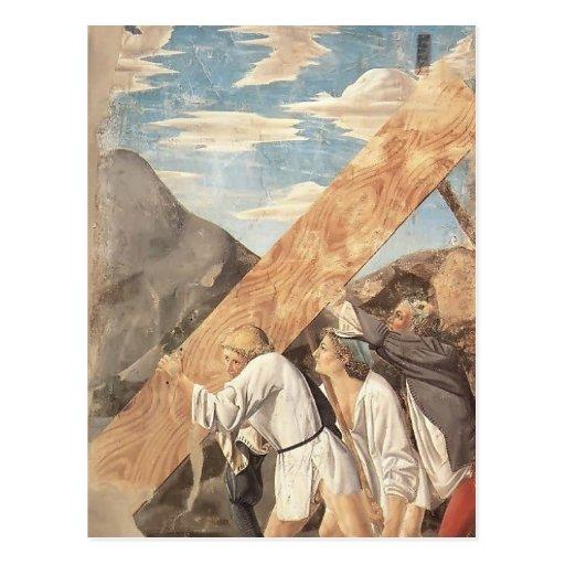 Piero della Francesca-Beerdigung des heiligen Postkarte